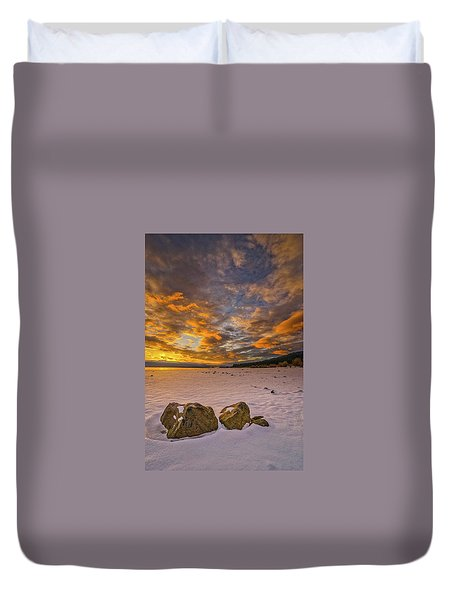 Sunrise Rocks Duvet Cover