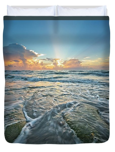 Sunrise Sunbeams Duvet Cover