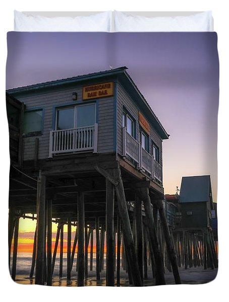 Sunrise Under The Pier Duvet Cover