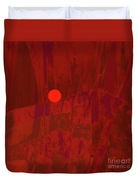 Sunset As Siler Metaphorm Duvet Cover