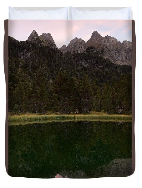 Duvet Cover featuring the photograph Sunset At Ibonet De Batisielles by Stephen Taylor