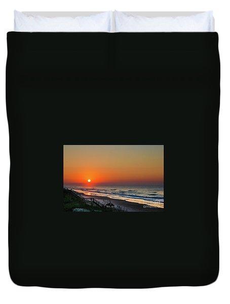 Sunset At Surf City Nc Duvet Cover