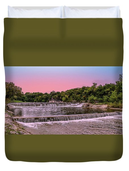 Sunset At The Falls Duvet Cover