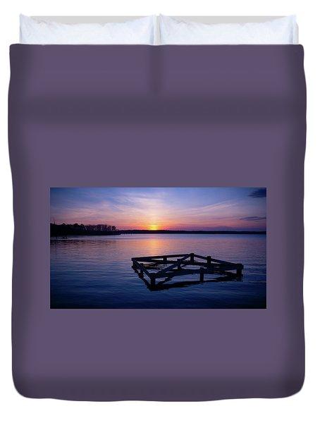 Sunset At The Reservoir  Duvet Cover