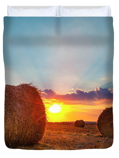 Sunset Bales Duvet Cover