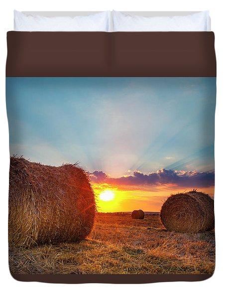 Sunset Bales Duvet Cover