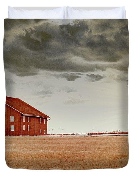 Sunset Barn Duvet Cover