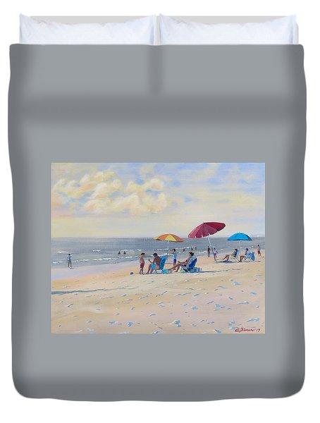 Sunset Beach Observers Duvet Cover