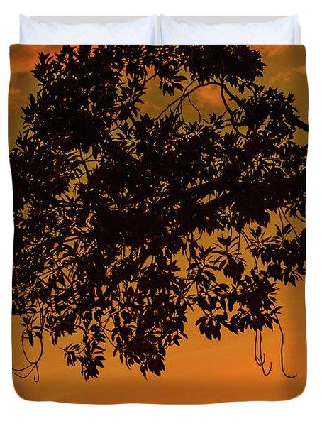 Sunset By The Pier Duvet Cover