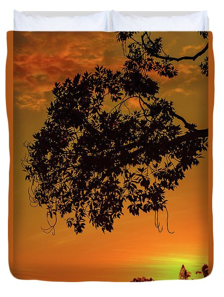Sunset By The Pier Duvet Cover
