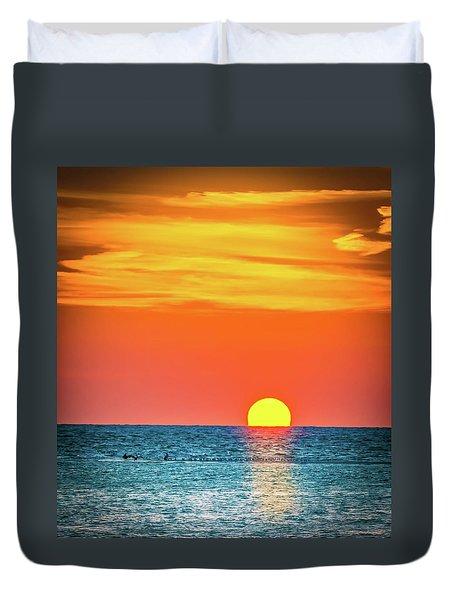 Sunset Captiva  Duvet Cover