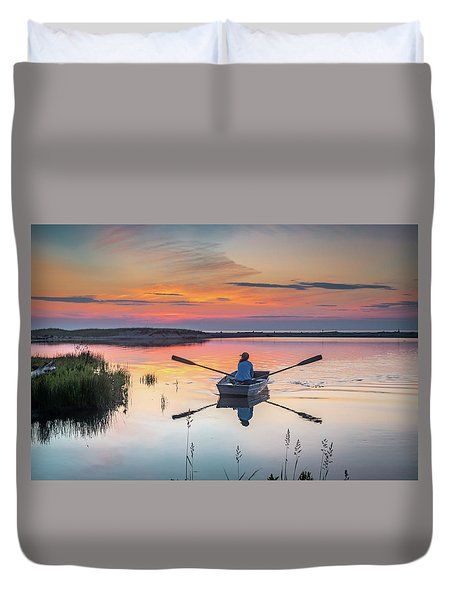 Sunset  Crossing Duvet Cover