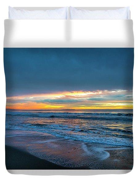 Sunset Fire Over Catalina Island 2 Duvet Cover