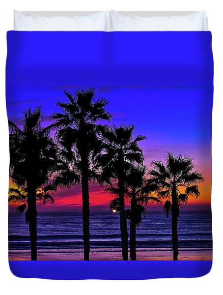 Duvet Cover featuring the photograph Sunset From The Ocean Park Inn by Robert Bellomy