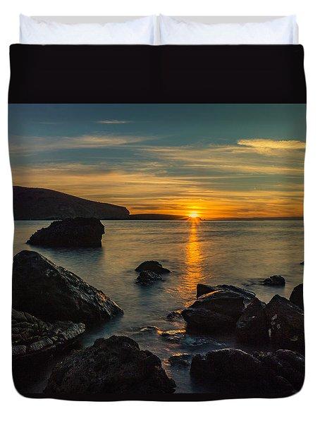 Sunset In Balandra Duvet Cover