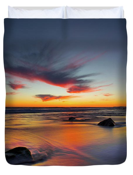 Sunset In Malibu Duvet Cover