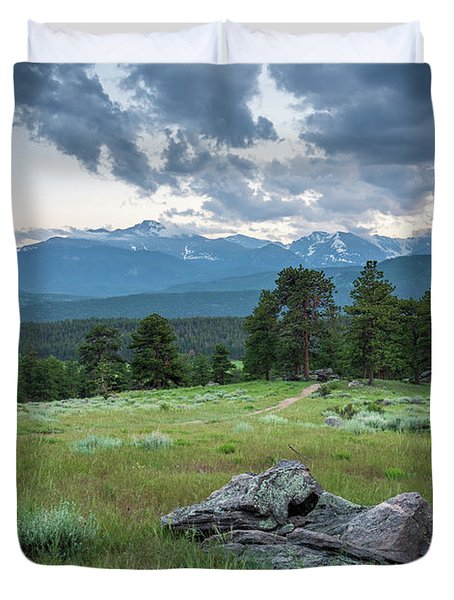 Sunset In Rocky Mountain National Park  Duvet Cover