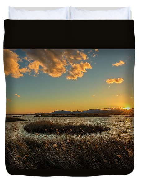 Sunset In The Natural Park Of Prat De Cabanes Duvet Cover
