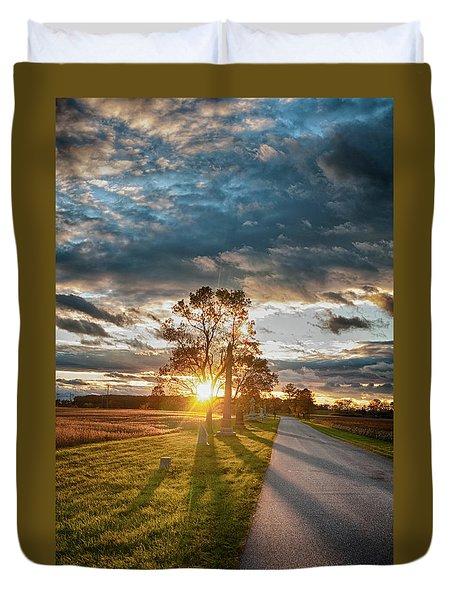 Sunset In The Tree Duvet Cover