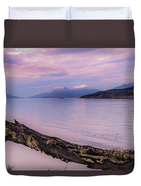 Sunset In Ushuaia Duvet Cover