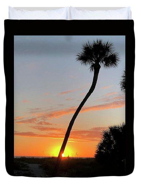 Sunset In Venice Duvet Cover