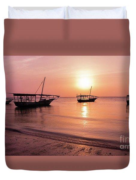 Sunset In Zanzibar Duvet Cover