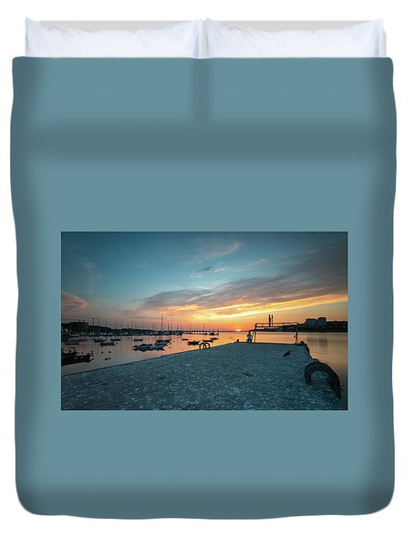 Duvet Cover featuring the photograph Sunset Looker by Bruno Rosa