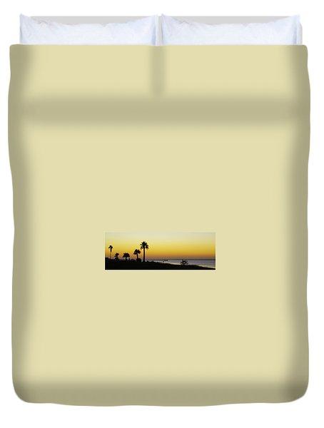 Sunset On Copano Bay, Texas Duvet Cover