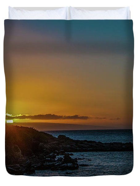 Sunset On Kapalua Duvet Cover