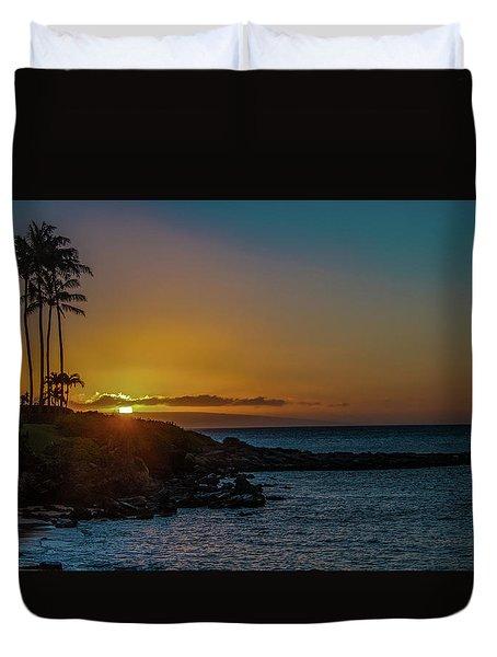 Sunset On Kapalua Duvet Cover