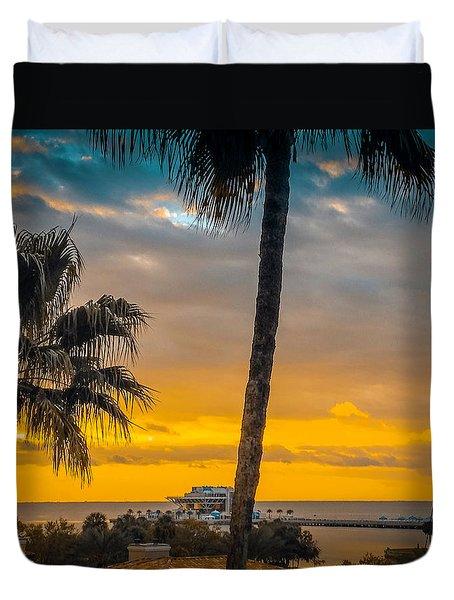 Sunset On The Island Duvet Cover