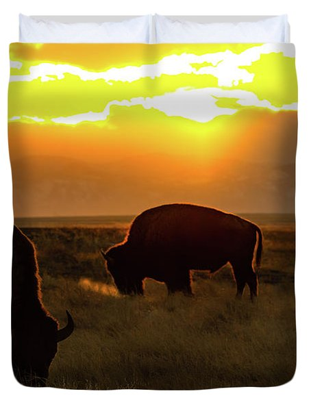Sunset On The Plains Of Colorado Duvet Cover