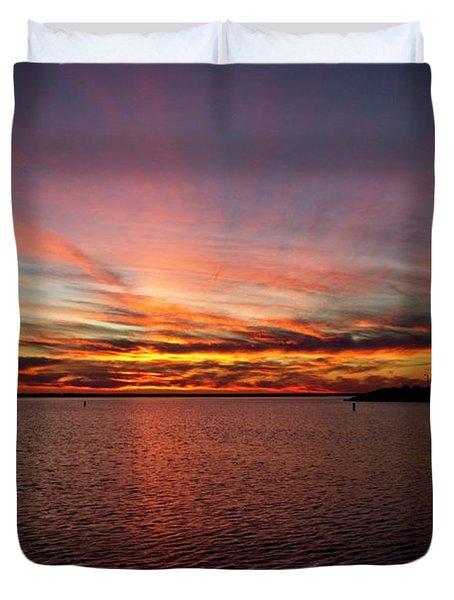 Sunset Over Canada Duvet Cover