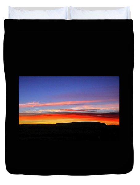Sunset Over Navajo Lands Duvet Cover