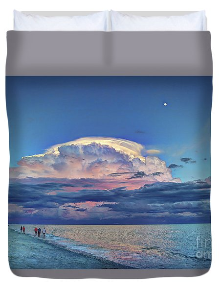Sunset Over Sanibel Island Duvet Cover