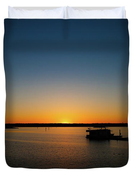 Sunset Over The Potomac Duvet Cover
