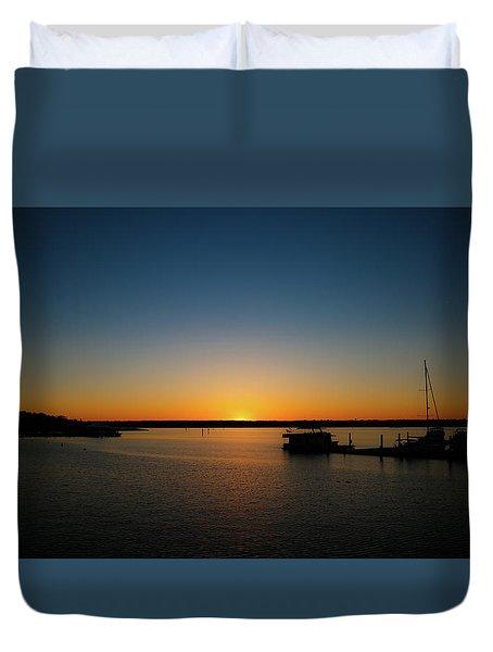 Sunset Over The Potomac Duvet Cover