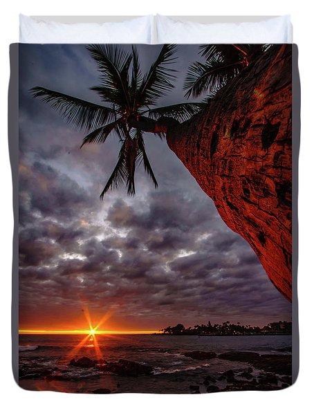 Sunset Palm Duvet Cover