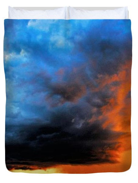 Sunset Storm Duvet Cover