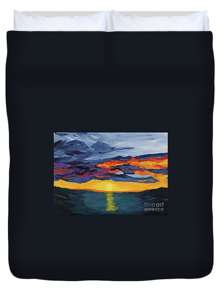 Sunset Streak Duvet Cover