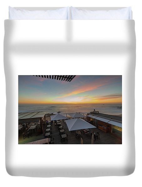 Duvet Cover featuring the photograph Sunset Vibes by Bruno Rosa