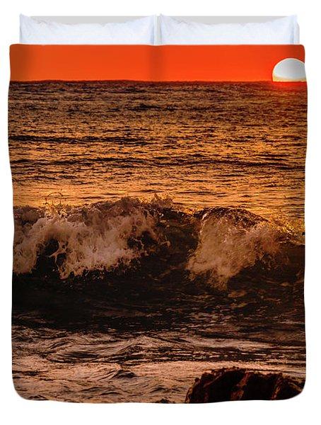 Sunset Wave Duvet Cover