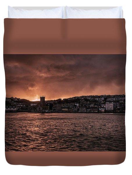 Sunset Harbour Duvet Cover