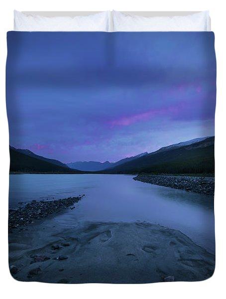 Sunwapta River Duvet Cover
