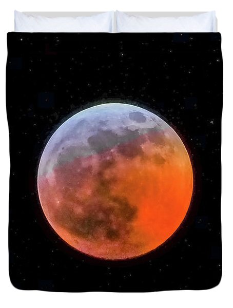 Super Blood Moon Eclipse 2019 Duvet Cover