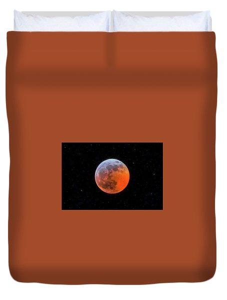 Super Blood Moon Eclipse 2019 Duvet Cover