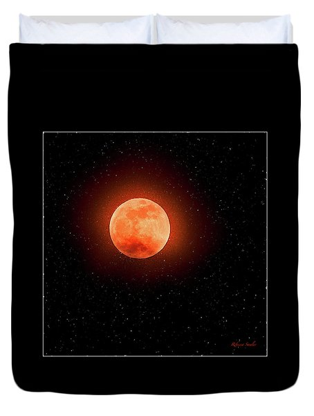 Super Blood Wolf Moon Duvet Cover