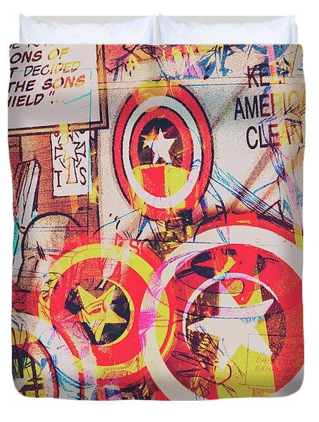 Super Hero Design Duvet Cover