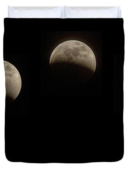 Super Wolf Blood Moon Eclipse Sequence Duvet Cover
