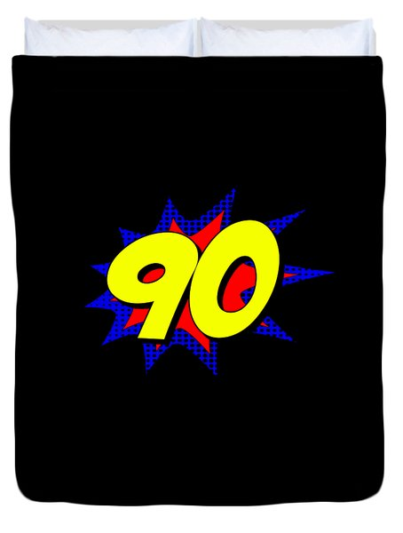 Superhero 90 Years Old Birthday Duvet Cover